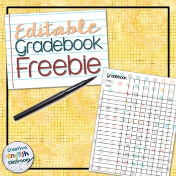 FREE Polka Dot Gradebook Template by Distinguished English TpT - grade book template