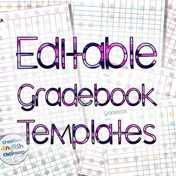 Polka Dot Gradebook Template with 8 Polka Bokeh Styles TpT
