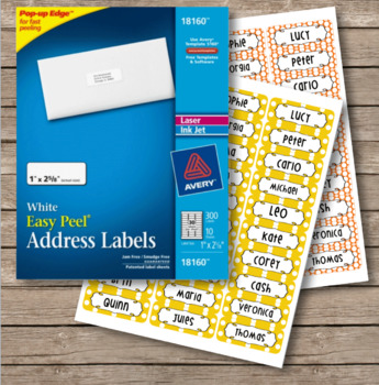 Polka Dot Labels - 30 Address Label Size (Avery 18160) Orange and