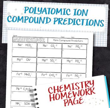 Polyatomic Teaching Resources Teachers Pay Teachers - poly atomic ions chart
