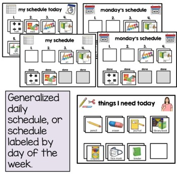 Portable Visual Schedule Booklet and Behavior Management Tool Autism