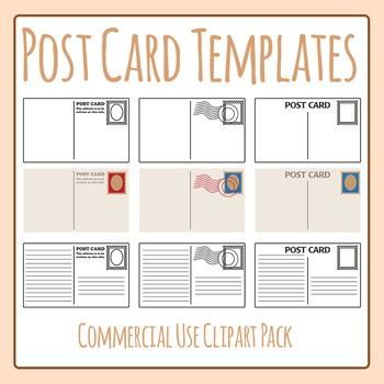Postcard Template Worksheets  Teaching Resources TpT