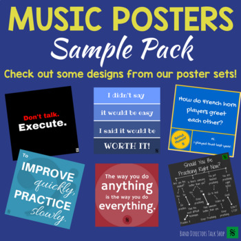 Music Bulletin Board- FREE Music Posters  Band Posters Sample! TpT