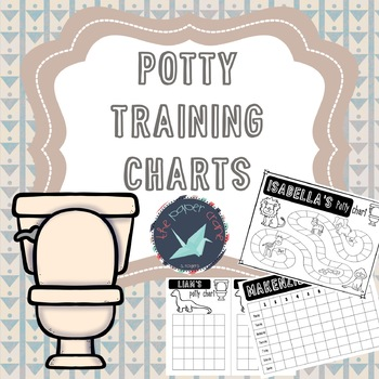 Potty Training Charts Editable by the paper crane TpT