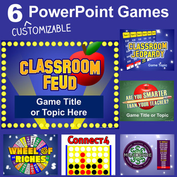 PowerPoint Games Pack - 6 Customizable Templates by Best Teacher