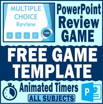 PowerPoint Review GAME TEMPLATE~Animated Timers~ANY