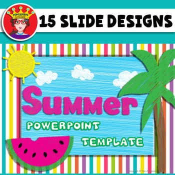 PowerPoint Template Summer by PowerPoint Princess TpT