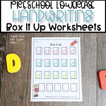 Handwriting Letter Boxes Teaching Resources Teachers Pay Teachers