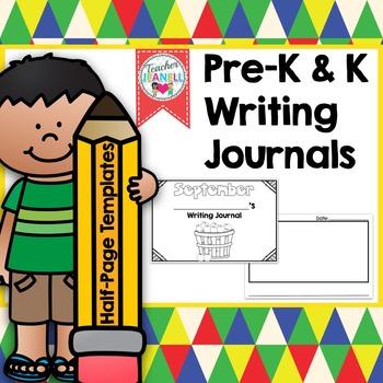 Journal Templates Kindergarten Worksheets  Teaching Resources TpT