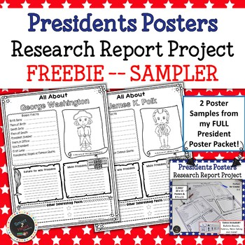 President\u0027s Day Research Project - Research Report Posters FREEBIE