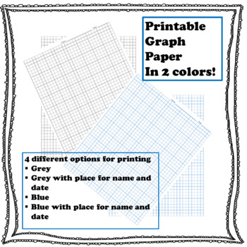 Printable 1/4 inch graph paper by Geoklectic Teachers Pay Teachers
