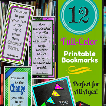 Printable Bookmarks for All Ages! by Speech Debate ELA etc TpT