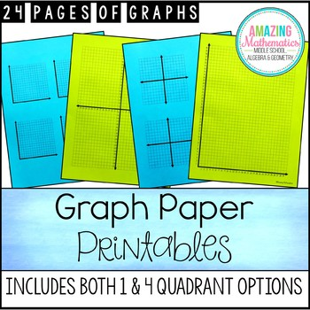 Printable Graph Paper, Graphs, and Coordinate Grids by Amazing