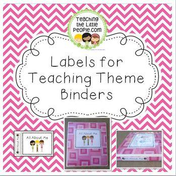 Printable Labels for Making Themed Teacher Binders by Julie Locke