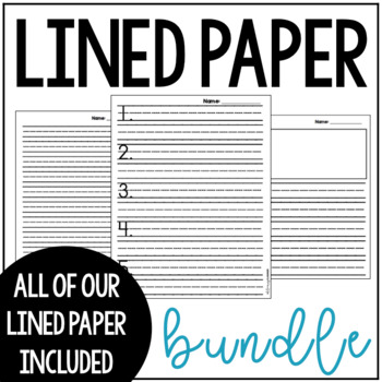 Printing Lined Paper Teaching Resources Teachers Pay Teachers