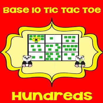 Printable Math Center Tic Tac Toe Base 10 Blocks - Hundreds File