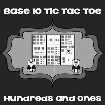 Printable Math Center Tic Tac Toe Base 10 Blocks - Hundreds  Ones