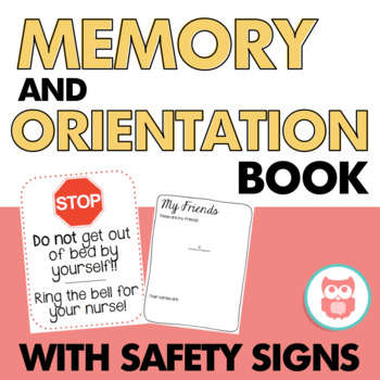 Printable Memory  Orientation Book with Safety Signs by Speechy Musings