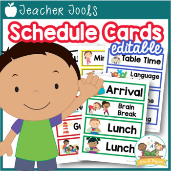 Printable Picture Schedule Cards for Preschool and Kindergarten by