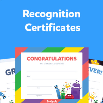 Printable Recognition Certificates by StoryBots TpT