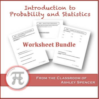 Introduction to Probability and Statistics Worksheet Bundle by - statistics worksheet