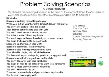 Social Problem Solving Scenarios Pictures To Pin On