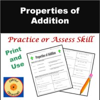 Properties of Addition Worksheet by Carol Weiss   TpT