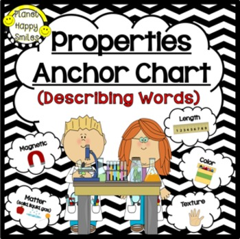 Properties of Matter Anchor Chart by Planet Happy Smiles TpT