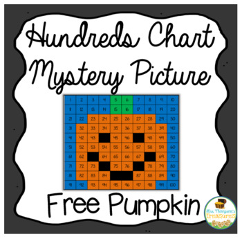 Free Pumpkin Math - Hundreds Chart Picture by Mrs Thompson\u0027s Treasures - hundreds chart