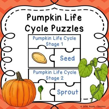 Life Cycle of a Pumpkin Cut and Paste Pumpkins Life Cycles