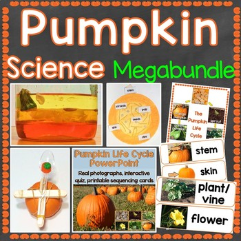 Pumpkin Science Mega Bundle STEM, Life Cycle, Parts of a Pumpkin