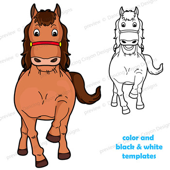 Puppet Horse Craft Paper Bag Puppet Template by Dancing Crayon Designs