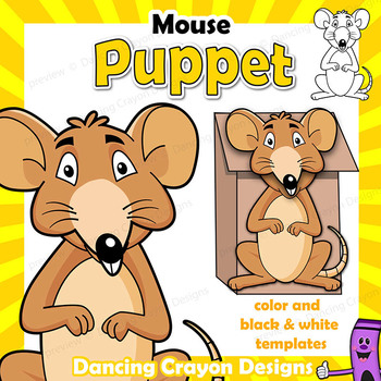Puppet Mouse Craft Activity Printable Paper Bag Puppet Template