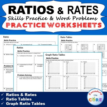 RATIOS  RATES Homework Practice Worksheets - Skills Practice  Word