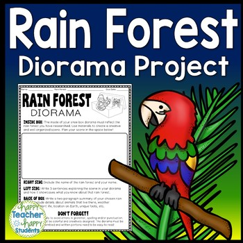 Rain Forest Project Decorate a Shoebox Diorama Perfect for ANY
