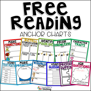 FREE Reading Anchor Charts by Teach With Ashley TpT