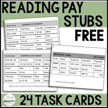 Pay Stubs Worksheets  Teaching Resources Teachers Pay Teachers