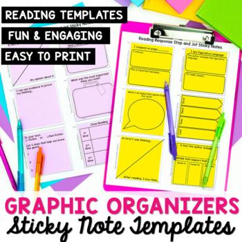 Reading Response Sticky Note Template by The Stellar Teacher Company