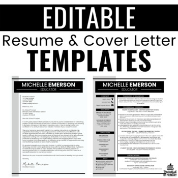 Resume Template EDITABLE by Pocketful of Primary TpT