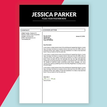 Editable Resume Template for Teachers MS Word DOCX, Educator Resume
