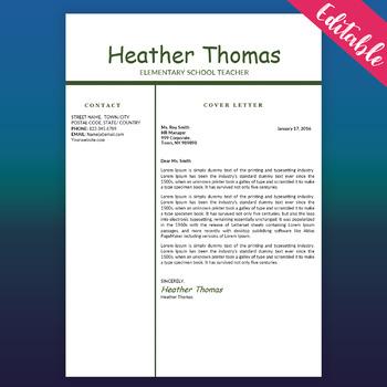 Teacher Resume Template, Educator Resume, Free CV Word