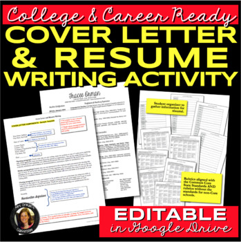 Resume and Cover Letter Writing for College  Career Readiness by