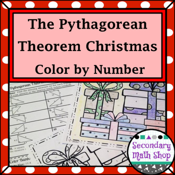 Right Triangle - Pythagorean Theorem Color-By-Number Christmas Worksheet - pythagorean theorem worksheet