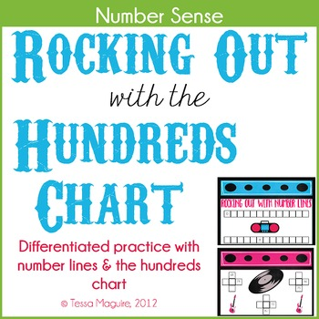 Rocking Out with Numbers- Hundreds Chart Number Sense Practice by - hundreds chart