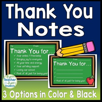 Thank You Notes 3 Design Options in Color  Black  White Thank