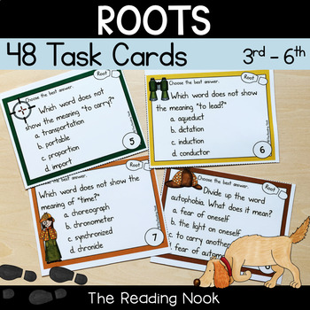Root Words Task Cards by The Reading Nook Teachers Pay Teachers