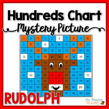 Free Rudolph Hundreds Chart Christmas Math Activities TpT