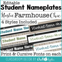 Rustic Farmhouse Chic Classroom Decor Bundle by Chalk and ...