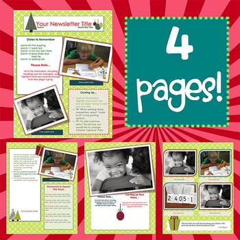 SIMPLY CHRISTMAS *NEW FORMAT* - Newsletter Template WORD TpT