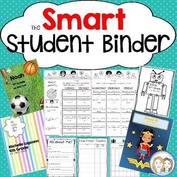 SMART Student Binder Daily Planner, Classroom Forms, Printable